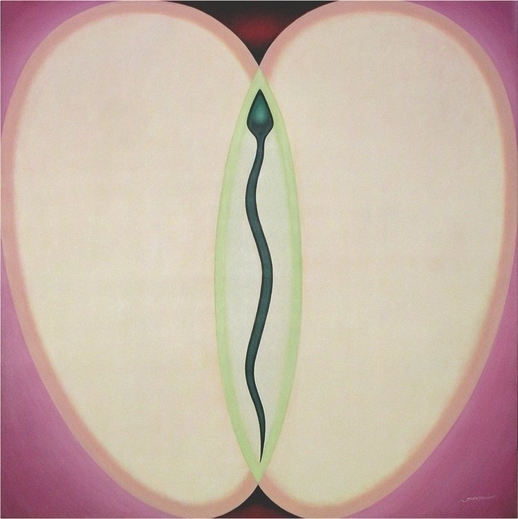 Adam Eva. Acrylics canvas. Cont - johntrinh | ello