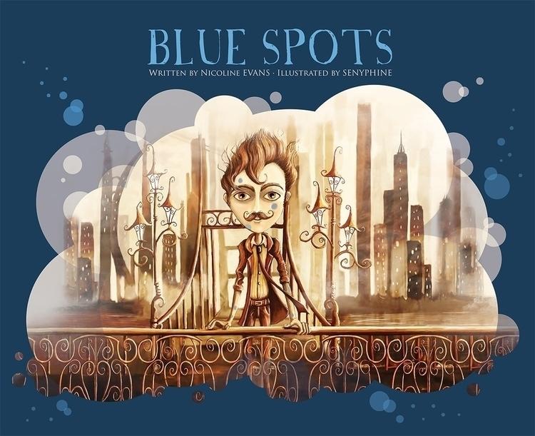 Illustration Blue Spots, book w - senyphine | ello