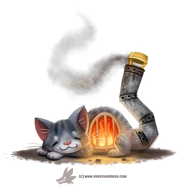 Daily Paint Fur-nace - 1248. - piperthibodeau | ello
