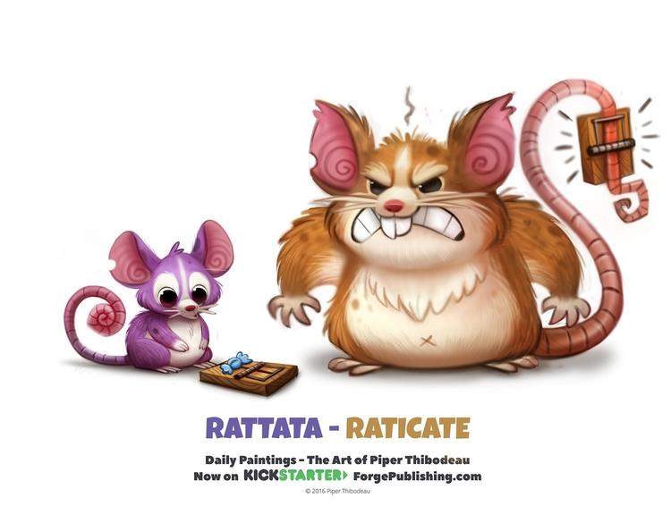 Rattata - Raticate KickStarter  - piperthibodeau | ello