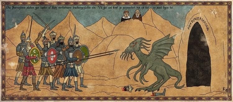 Terrible Dragon Spawn - illustration - robertaltbauer | ello