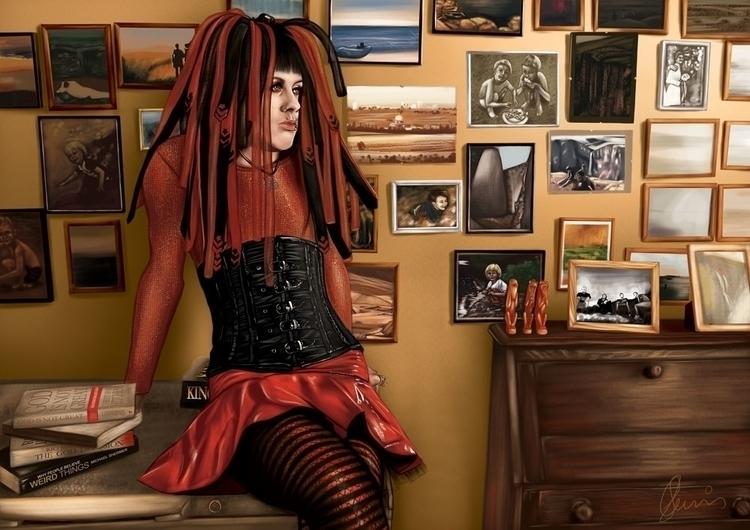 Ian - portrait, portraiture, portraitillustration - sarahkatecummins | ello
