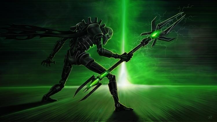 necron lord_ war hummer - illustration - lnpbr_b9 | ello