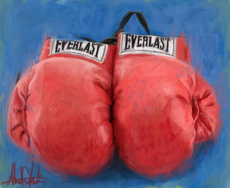 painting greatest Muhammad Ali  - kadisart | ello