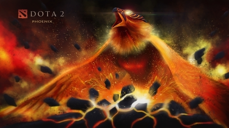 phoenix - illustration, painting - lnpbr_b9 | ello
