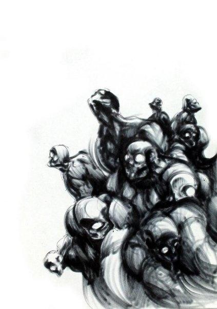 Darkness - illustration, personal - alexideo | ello