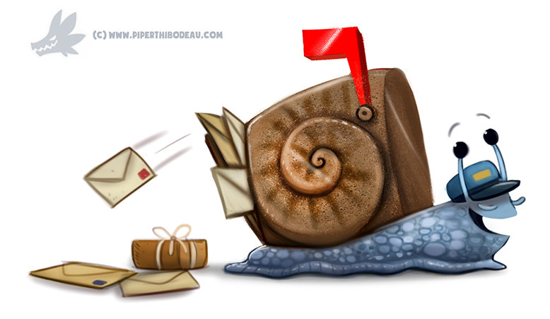 Daily Paint Snail Mail - 1249. - piperthibodeau | ello