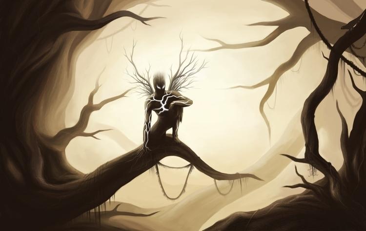 treent protector - painting, characterdesign - lnpbr_b9 | ello