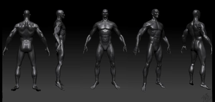human figure study - characterdesign - lnpbr_b9   ello