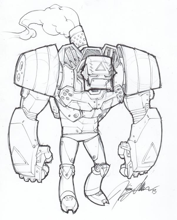 Robo Sketch - drawing - kevinallen-5044 | ello
