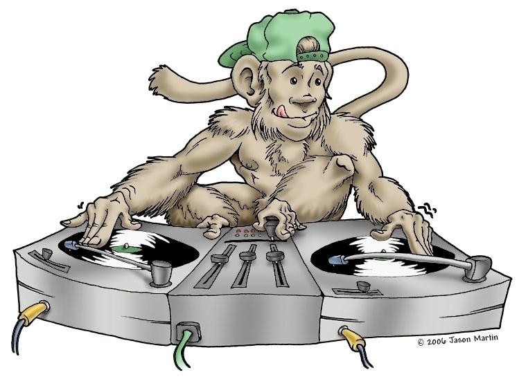 Illustration DJ Monkey promotio - jasonmartin-1263 | ello