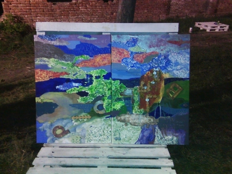 ,,Art jazzy''; mixed media; 100 - ivanmitic | ello