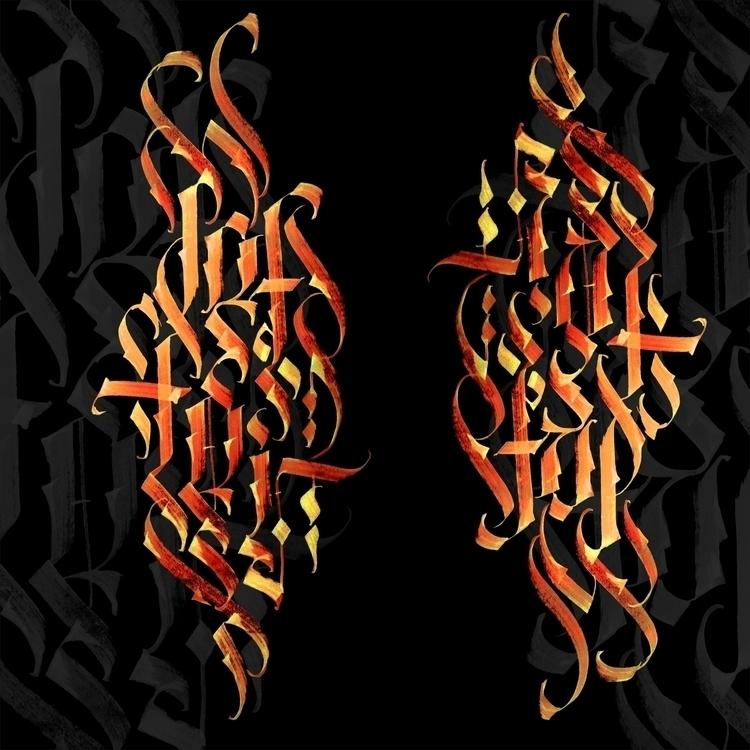 Letter - lettering, calligraphy - architaste   ello