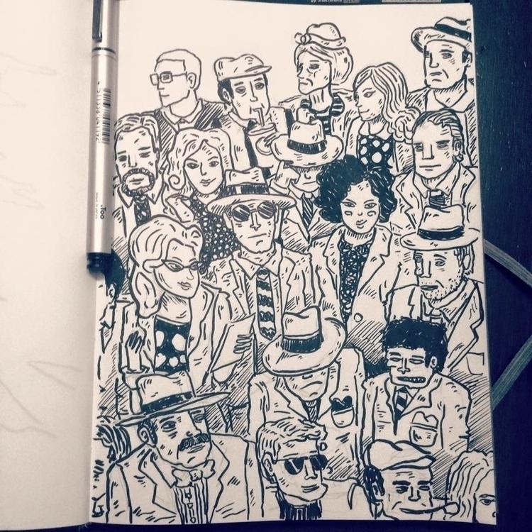 people - ilustration, crowd, sketch - elrodro | ello