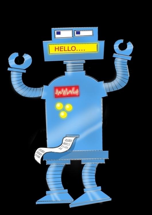 Retro Robot - illustration, characterdesign - paulwooldridge | ello