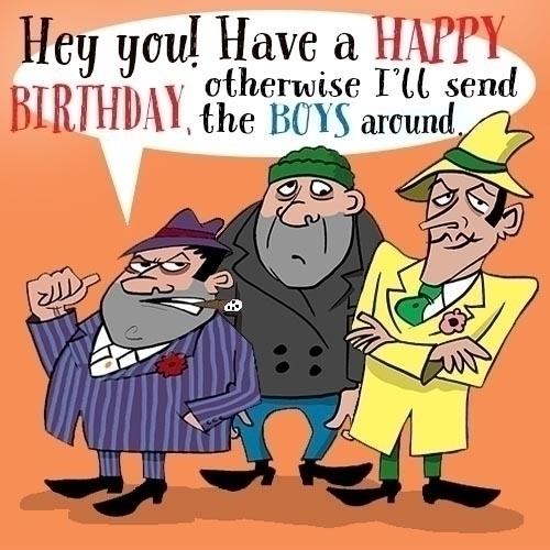 Happy birthday gangsta style - illustration - paulwooldridge | ello