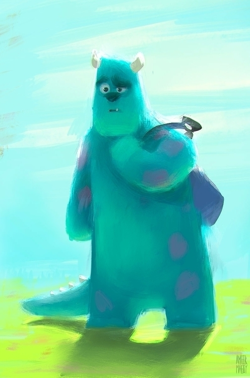 Sully University - Sulley, Monster'sInc - ameermagdy   ello