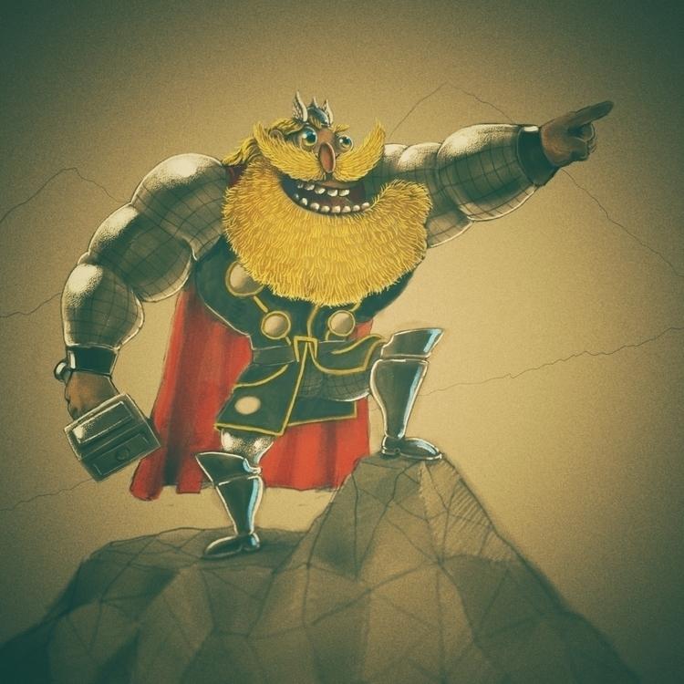 Thor, fun - thealmightythor, corelpainter - jaakkomehtala | ello