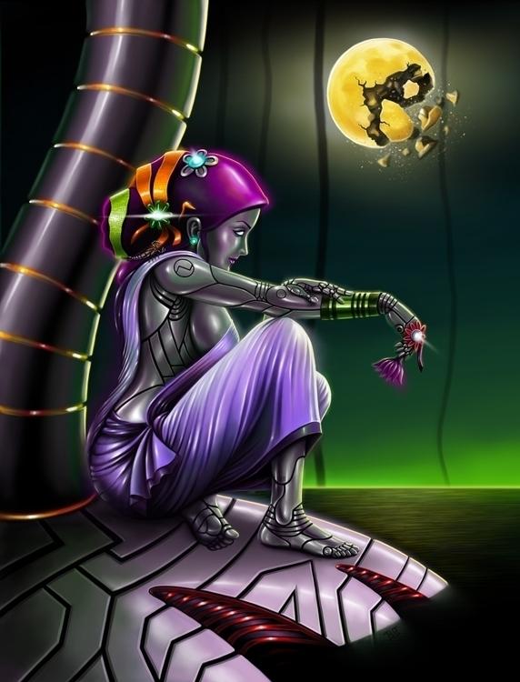 androyed 2 - illustration, painting - lnpbr_b9 | ello