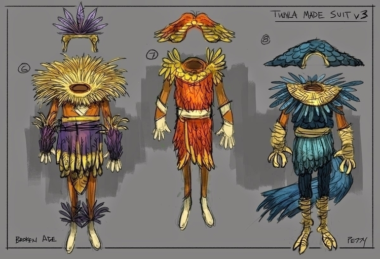 outfit designs Broken Age, Act  - lpetty | ello