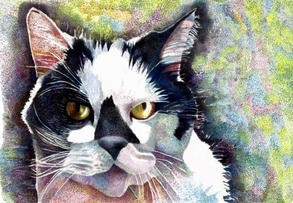 pointillism technique paint pic - kmwilson-1098 | ello