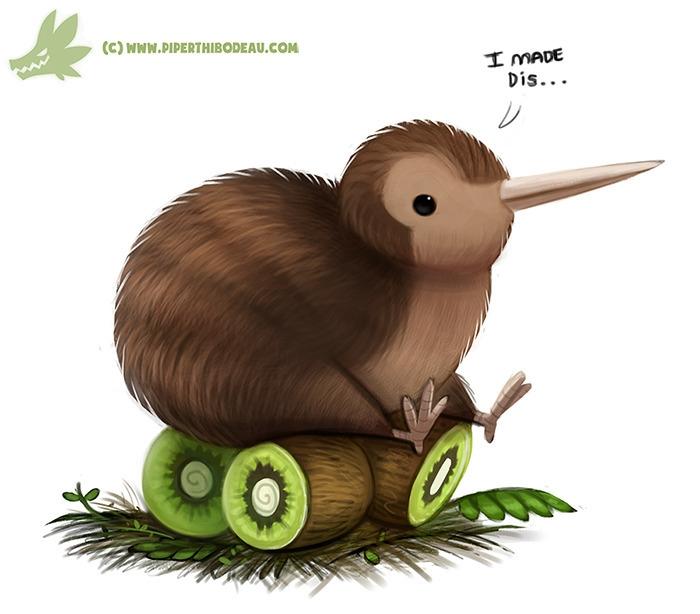 Daily Paint Kiwi Bird - 1060. - piperthibodeau | ello