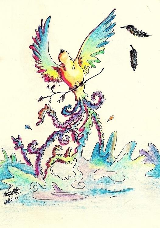 illustration, drawing, #birds - amandaloyolla | ello