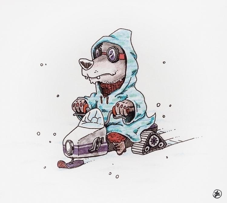 snow, wolf, fox, animal, winter - nicosarmiento | ello