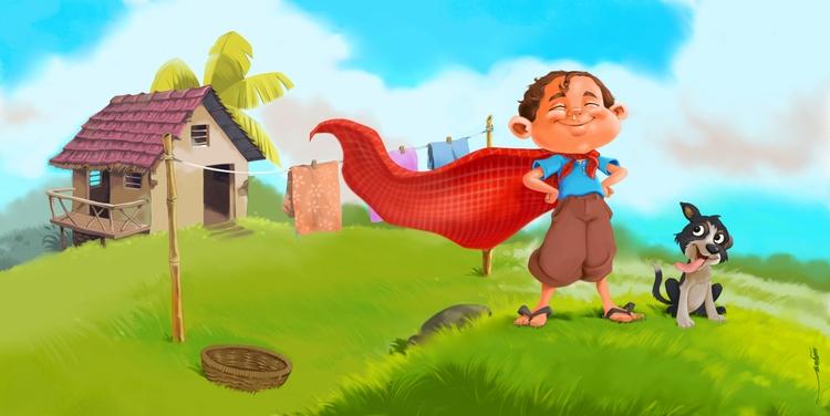 Childhood dream - illustration - naazunutty | ello