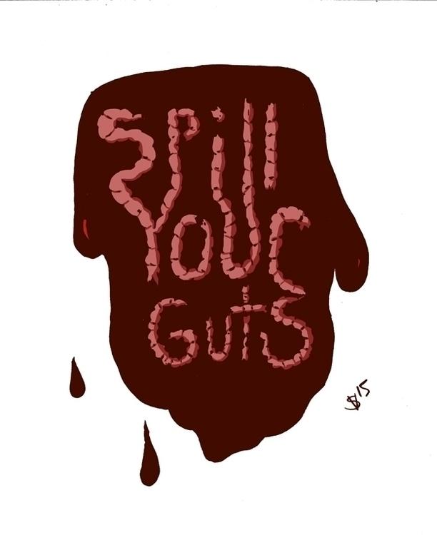 quick guts blood themed sketch - svaeth | ello