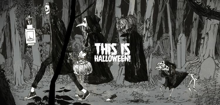 halloween, grotesque, pendrawing - mioim   ello