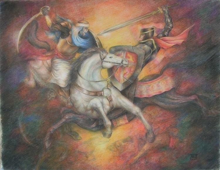crusade - painting, characterdesign - lnpbr_b9 | ello