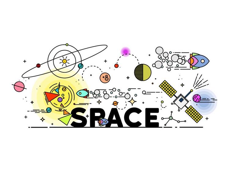 Space - #illustration, #graphicdesign - eightfivedesign | ello