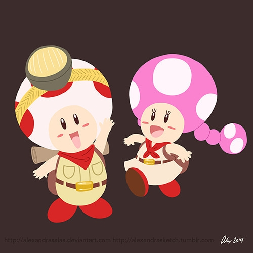 Captain Toad Toadette - captaintoad - alexandrasketch | ello