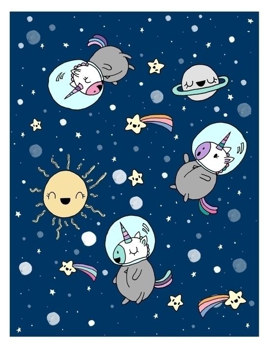 cute Unicorn Illustrations - illustration - claudiaramosdesigns | ello