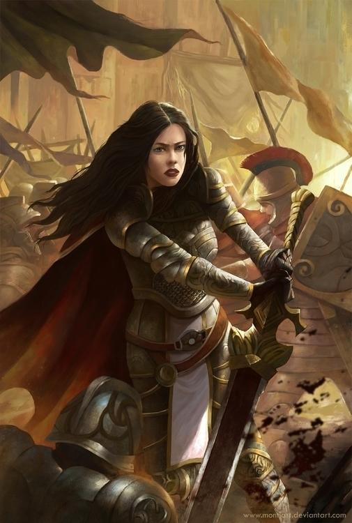 knight - illustration, painting - montjart | ello
