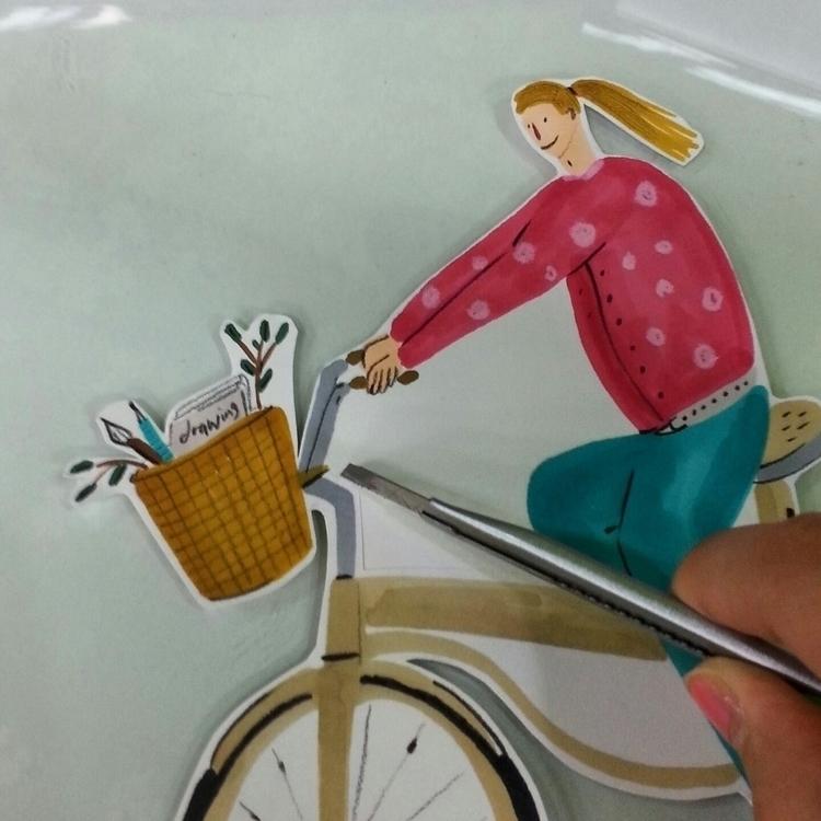paper doll - illustration, illustrator - thepari   ello