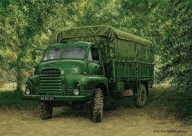 Bedford RL - #illustration, military - dannybriggs | ello