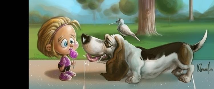 Sharing Lollipops - illustration - johnoconnell-1072 | ello