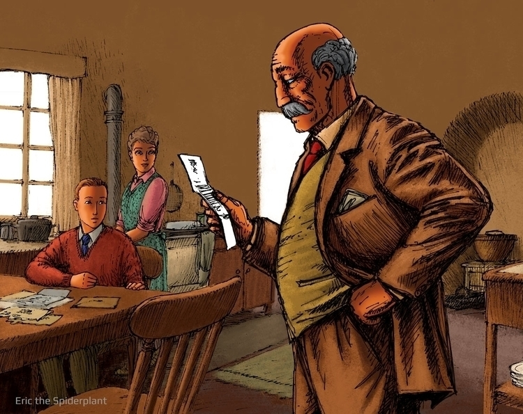 Basil - #illustration, reading, letter - dannybriggs | ello
