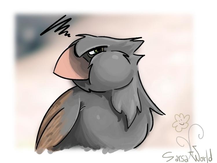 digitalillustration, bird, cartoon - amandaloyolla | ello