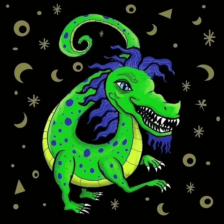 Dragon, digital media pen - illustration - toryerpenbeck | ello