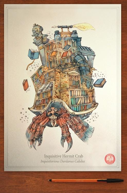 Inquisitive Hermit Crab 'Inquis - marcomatic | ello