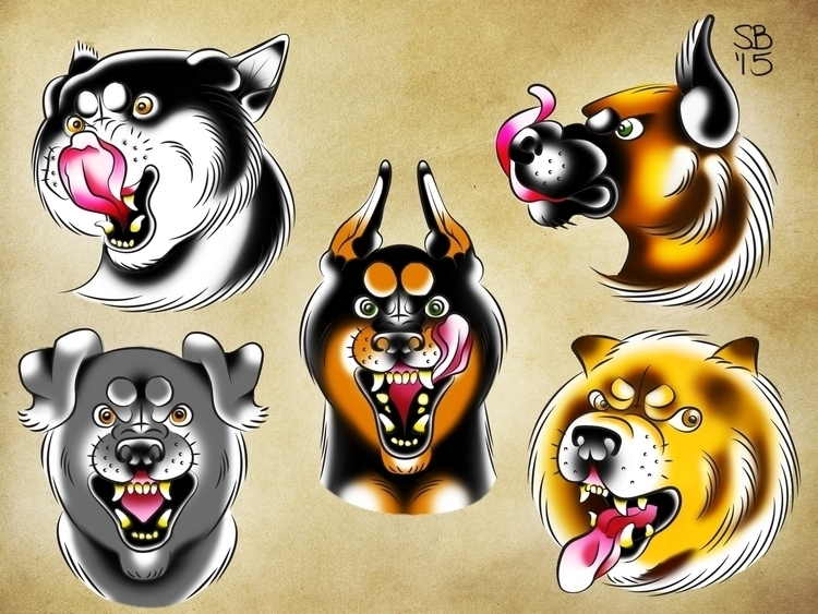 Dogs - illustration - samlbrown   ello