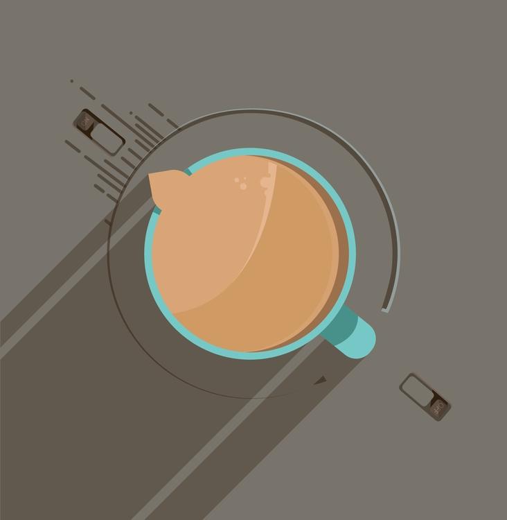 coffee, breakfast, icon, flat - lidiagh | ello