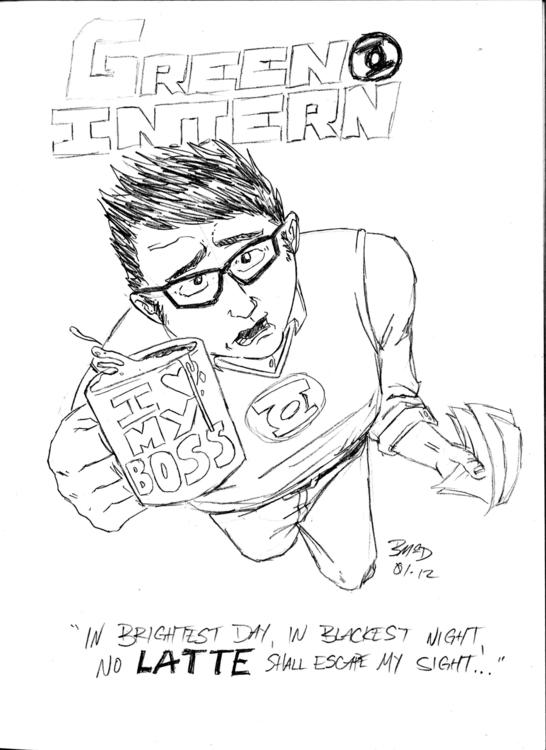 Green Intern. pencil - superhero - benji138 | ello