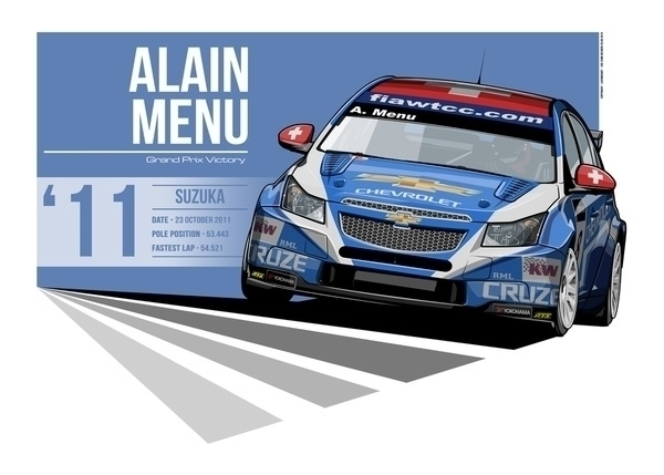 Alain Menu - 2011 Suzuka - illustration - evandeciren | ello