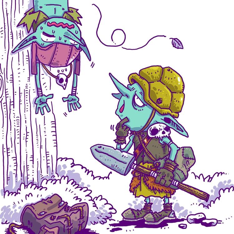 006 - Trapper Scratching chin,  - rtcustoms | ello