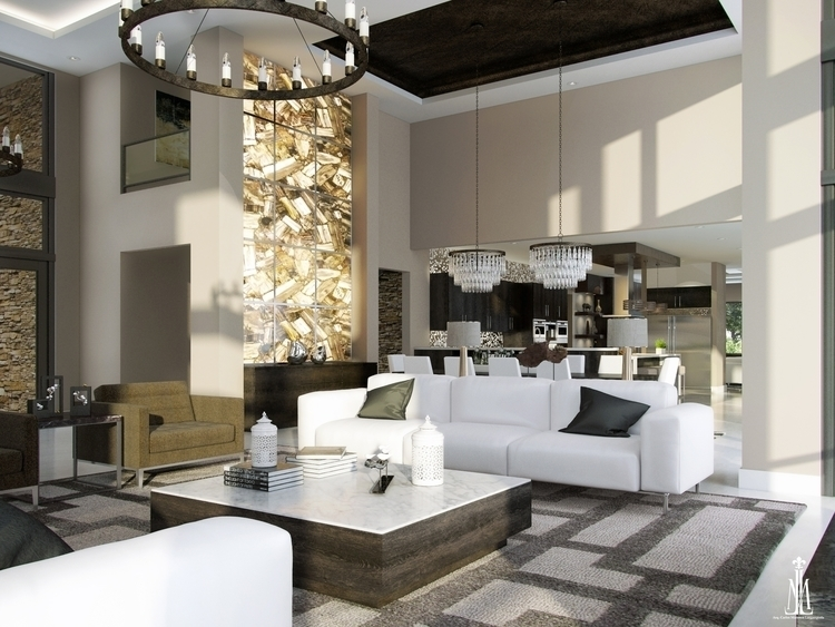 Family room design - 3d, 3dsmax - arqmarenco | ello