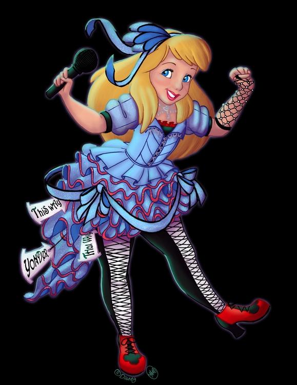 bit mashup classic Alice Wonder - meganamaher   ello